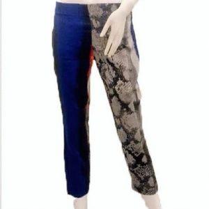 ELIE TAHARI Juliette Ankle Pants Multi Print